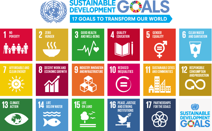 Illustration of the Sustainable Development Goals which are key for global action on health equity